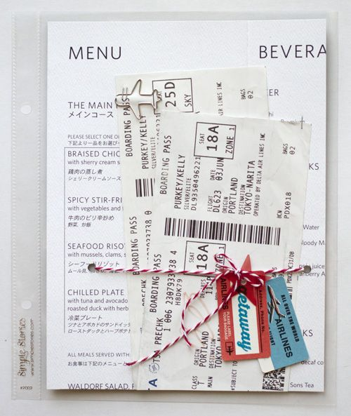 Use saved paper ephemera as a page background