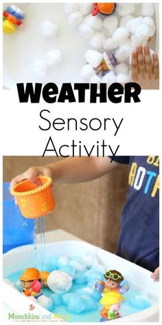 Weather Sensory Activity for preschoolers