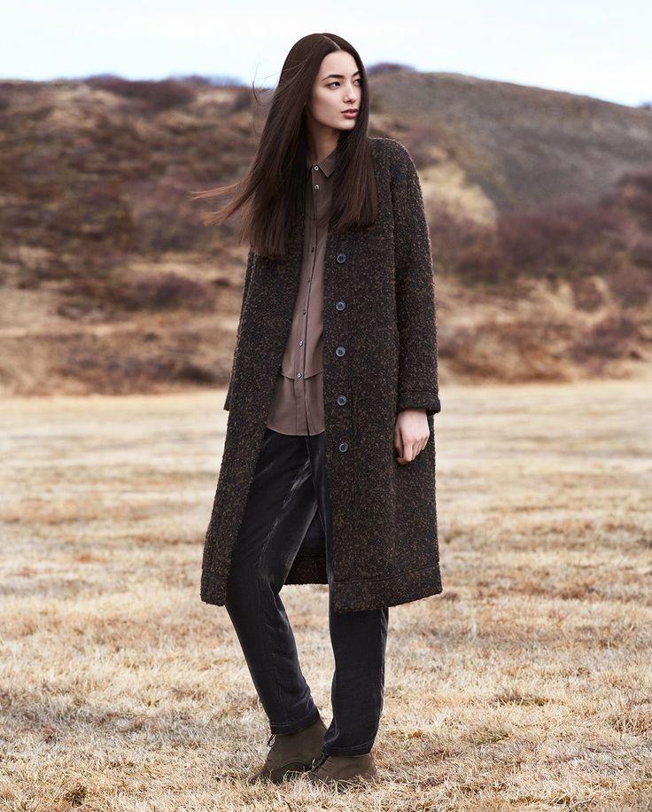 poetry fashion full length wool coat e c o w e a r. Black Bedroom Furniture Sets. Home Design Ideas