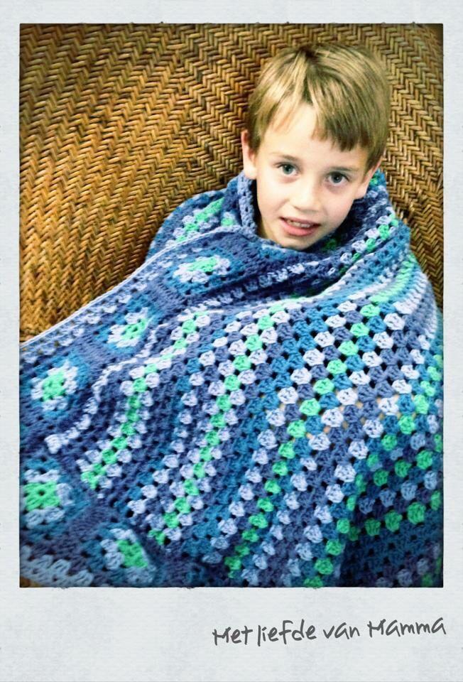 Crochet blanket  for my son xxx By Kari