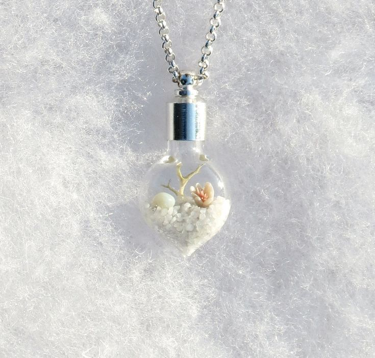Winter White Terrarium Necklace, by Hieropice, via Etsy.