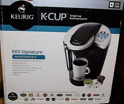 KEURIG ULTIMATE B60 K65 GOURMET K-CUP SINGLE COFFEE MAKER + 20 k-cups COFFEE