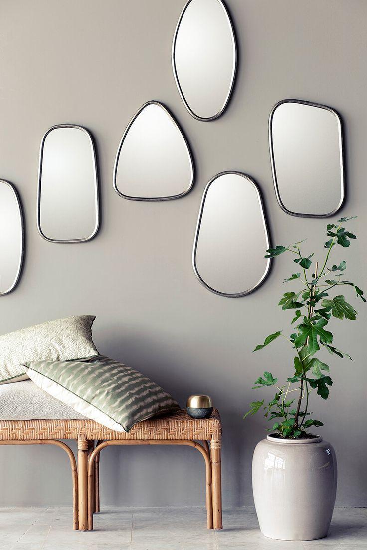 Focus ambiance: multiplier les miroirs, miroirs déco en plus d'être utile.
