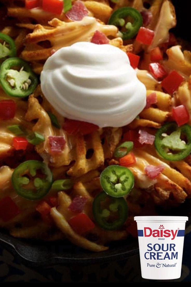 Nacho waffle fries recipe with sour cream daisy brand