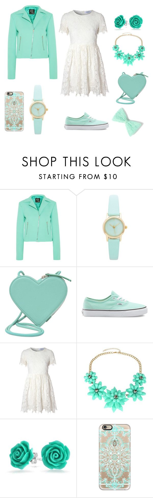 """Mint green girl"" by miabellawehri ❤ liked on Polyvore featuring McQ by Alexander McQueen, Christopher Kane, Vans, Glamorous, Bling Jewelry and Casetify"