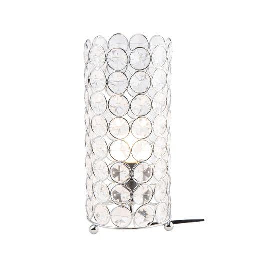 Lampe métal à pampilles - H 26 cm - Différents coloris