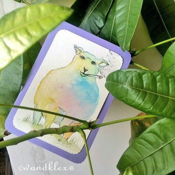 Have a nice weekend!  ☺️#wandklex #malerei #handgemalt #aquarell #hahnemühle #kunst #art #watercolor #watercolour #tier #schaf #etsygifts #etsyfindes #etsyseller