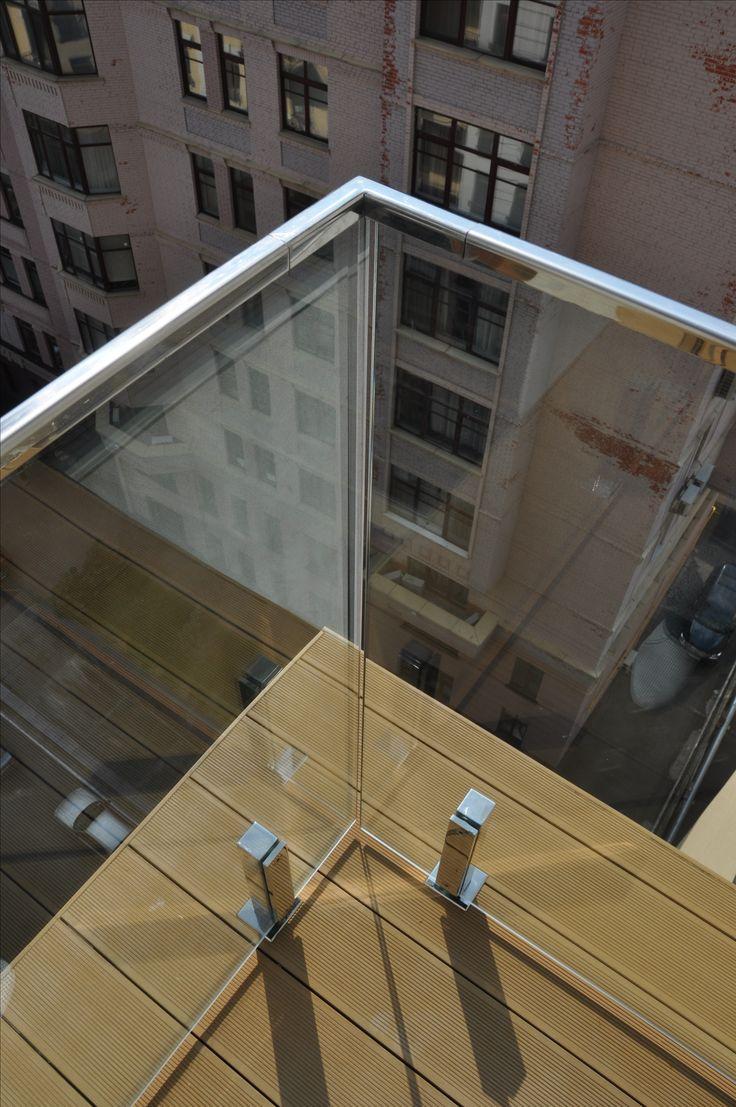Glass Railings Стеклянное ограждение балкона