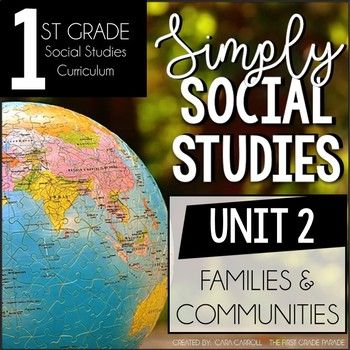 ****SIMPLY SOCIAL STUDIES - FIRST GRADE **** UNIT 2 - Families & Communities What is Simply Social Studies all about? Simply Social Studies is a Social Studies curriculum that covers grade appropriate concepts and objectives for