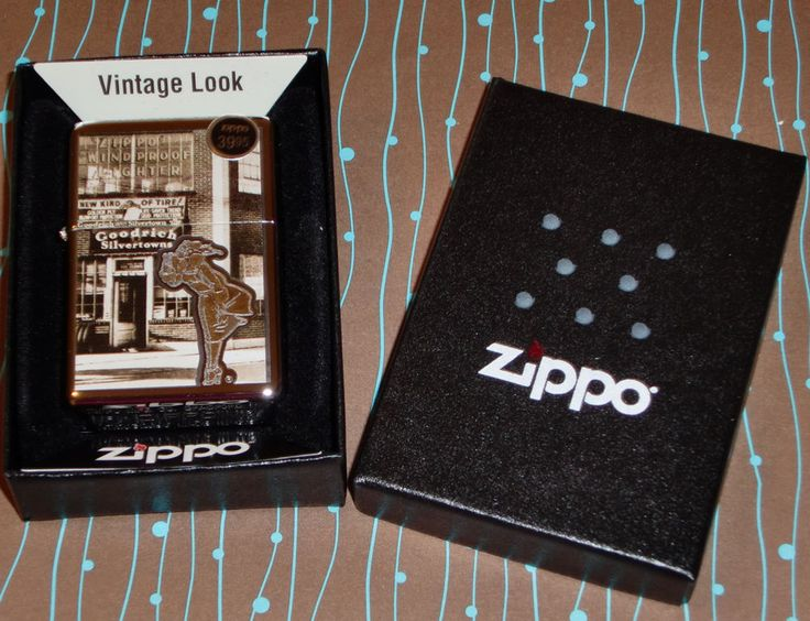 Zippo Lighter 28538 Windy Girl Vintage Look Chrome NEW in box Free Shipping