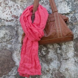 Teaberry Linen Scarf - Madison