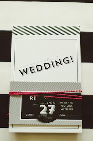 Black and white wedding invitations | Chantel Marie Photography | see more on: http://burnettsboards.com/2014/06/edgy-femininity-black-blush...