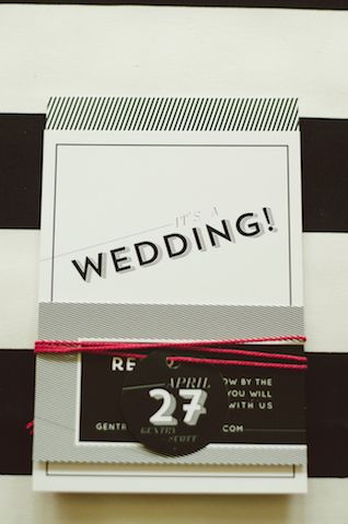 Black and white wedding invitations | Chantel Marie Photography | see more on: http://burnettsboards.com/2014/06/edgy-femininity-black-blush...