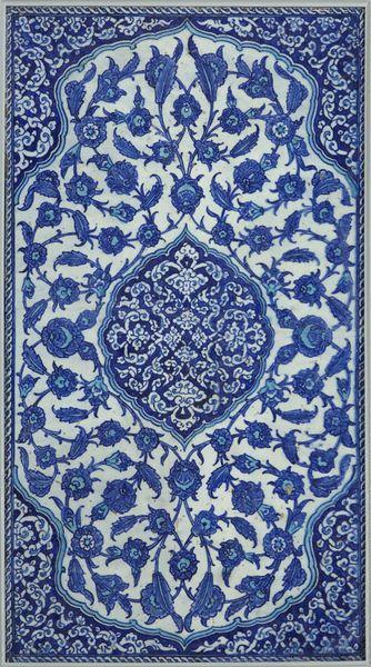 Tile Place of origin: Iznik, Turkey (made) Date: 17th century (made)