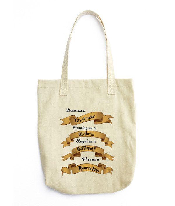 Hogwarts House Traits Tote bag