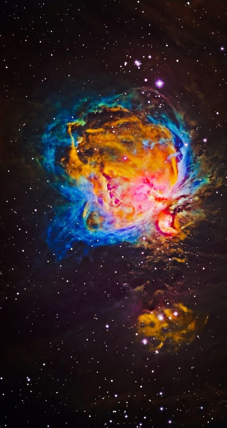The Orion Nebula Hubble Palette Credit: NASA/Hubble, color/effects thedemon-hauntedworld,