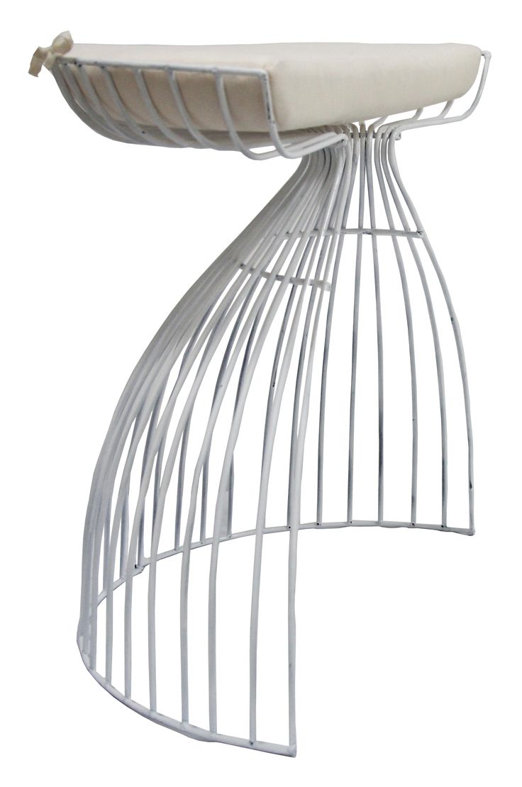 NEW IN: Semi-crescent wire stools in WHITE! Waterproof including cushion. From $130RRP AUD.      http://www.philbee.com.au/decor/semi-crescent-wire-stool-with-cushion-white.html
