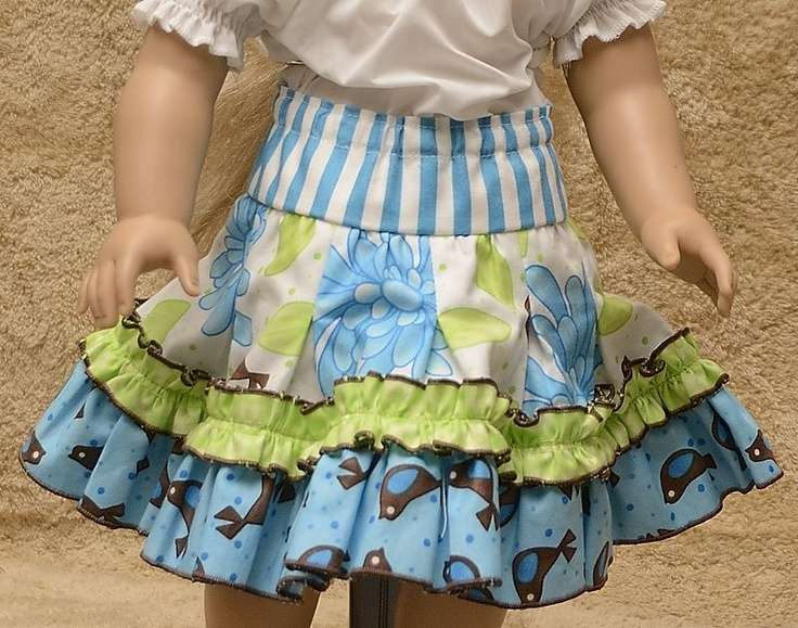Sew It Up-Pleated Twirl Skirt for Dolly