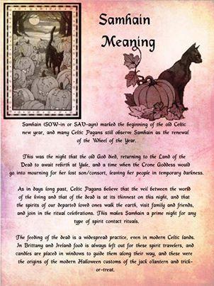 Samain:  #Samhain Meaning.