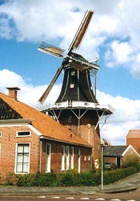 Flour and grinding mill Molen Dijkstra, Winschoten, the Netherlands