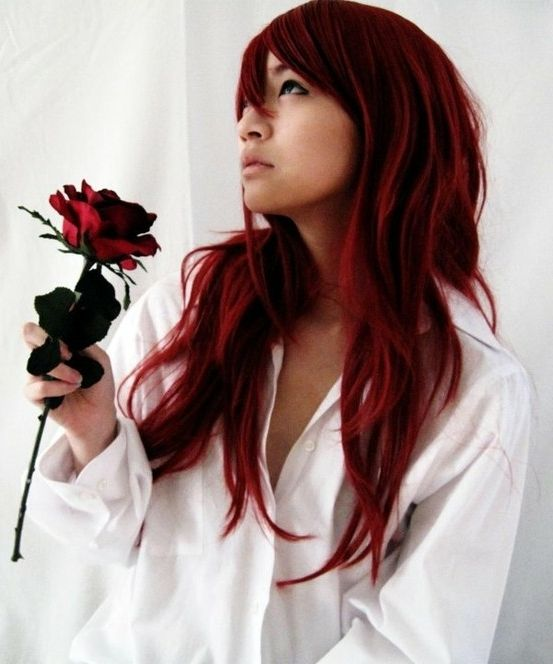 Asian hair color red