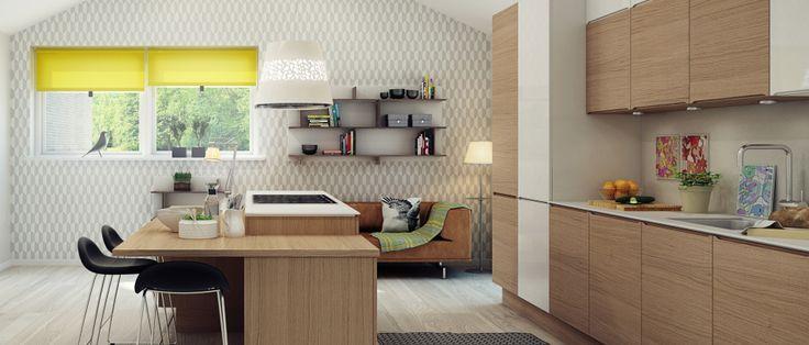 Kjøkken i eikefinér - HTH Eleganse