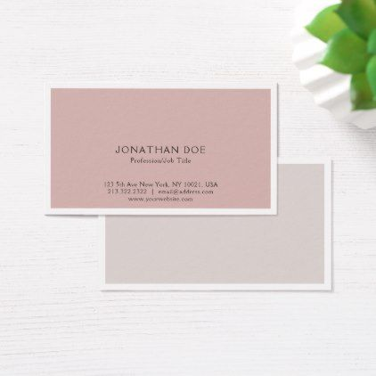 Elegant Color Harmony Modern Simple Plain Business Card - hair stylist gifts business cyo diy custom create