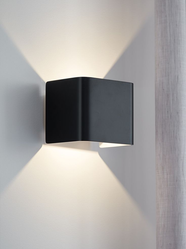The beacon lighting ledlux cuba 320 lumen interior black wall light in warm white