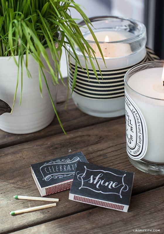 Printable Matchbox Labels with Editable Monograms