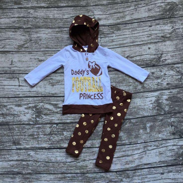 $14.09 (Buy here: https://alitems.com/g/1e8d114494ebda23ff8b16525dc3e8/?i=5&ulp=https%3A%2F%2Fwww.aliexpress.com%2Fitem%2Fgirls-football-hoodie-outfit-girls-boutique-clothing-baby-girls-Daddy-s-Football-Princess-clothing-girls-gold%2F32725575347.html ) girls football hoodie outfit girls boutique clothing baby girls Daddy's Football Princess clothing girls gold polka dot pant for just $14.09