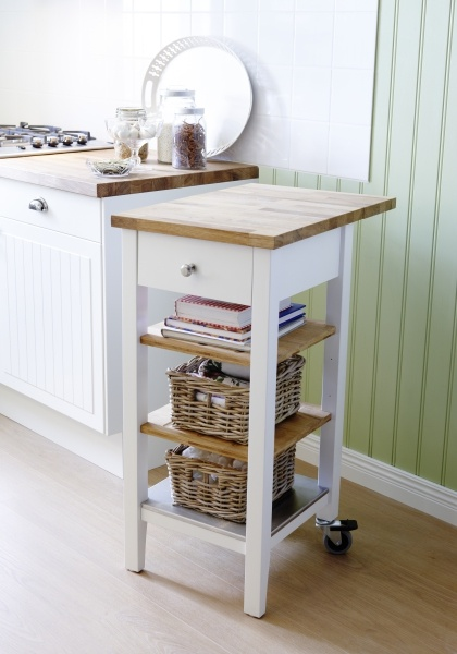 Add some extra counter space for preparing or serving with our STENSTORP kitchen cart.