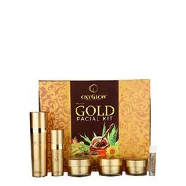 OxyGlow Gold Facial Kit Natural Anti Aging Anti-inflammatory  Elasticity - 73gm #OXYGLOW