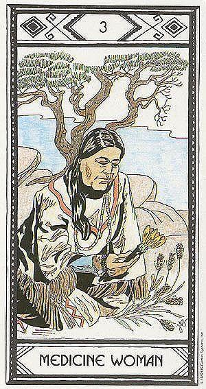 Medicine Woman (The Empress) - Native American Tarot