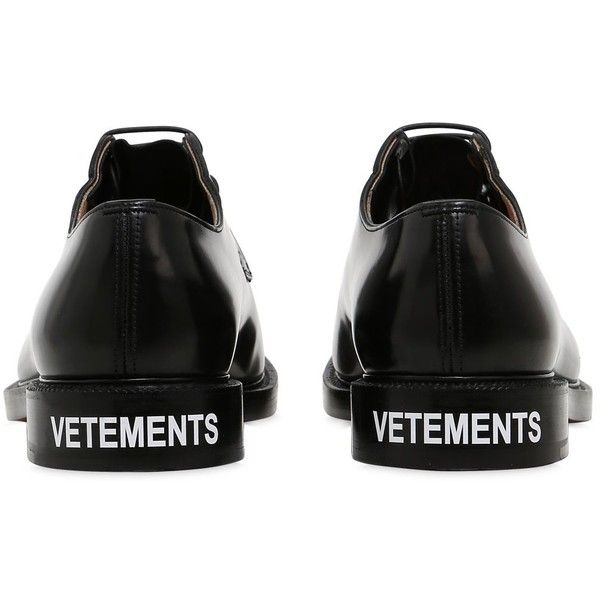 Vetements Men Church's Patent Leather Derby Shoes (2,000 CAD) ❤ liked on Polyvore featuring men's fashion, men's shoes, black, mens leopard print shoes, mens shoes, mens patent leather shoes, mens black patent leather shoes and mens derby shoes