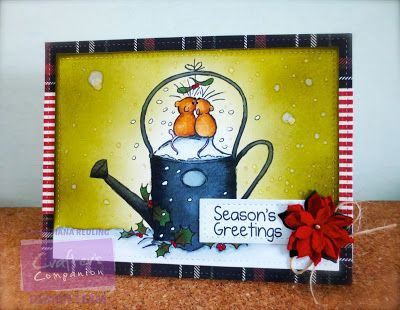 Christy Gets Crafty | Moonbeam Meadow Christmas Kisses @crafterscompanion @spectrumnoir