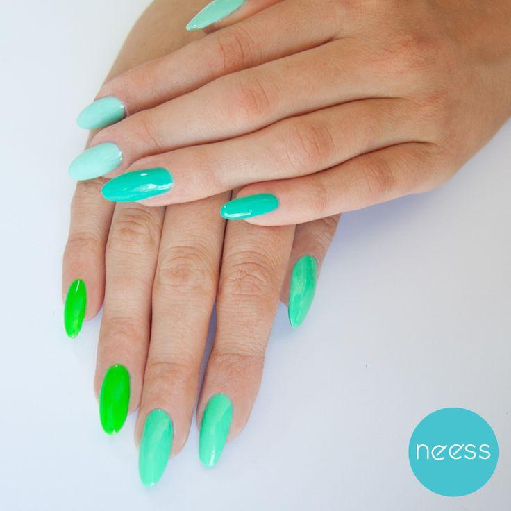 Lakiery hybrydowe NEESS. Neonowe pazurki. Neon nails
