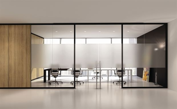 Removable partition / aluminum / glass / acoustic - ARIA - BABINI OFFICE