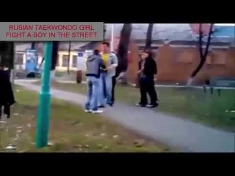 Taekwondo Girl VS 3 Men, Taekwondo Girl Beat Robber etc - YouTube