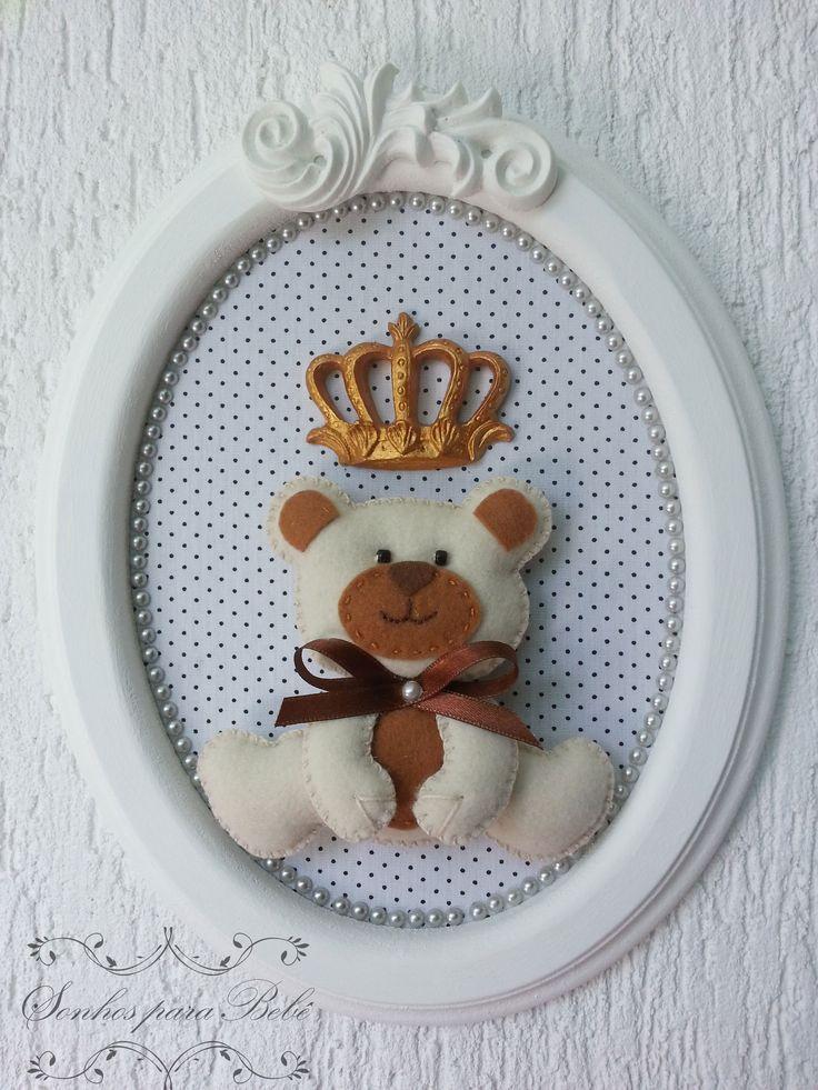 Porta Maternidade e decoração de quarto de bebê em feltro