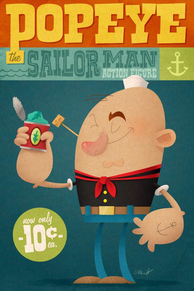 Popeye the Sailor Man by MattKaufenberg on deviantART
