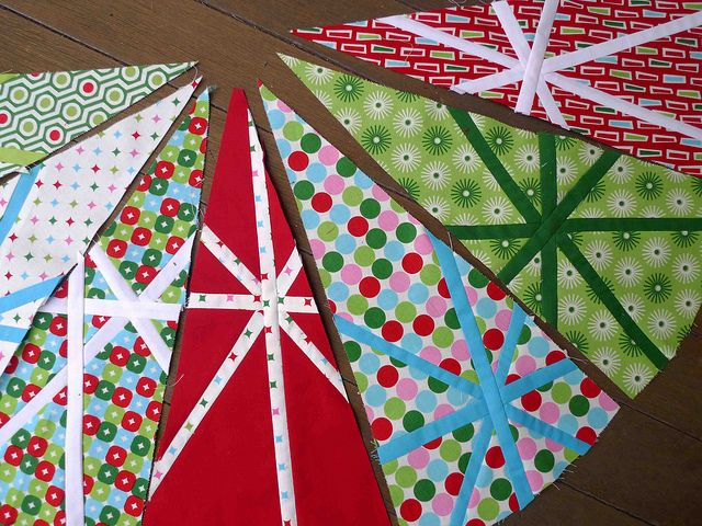 First Christmas Tree Skirt Wedges