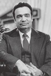 Vladimír Menšík (9 October 1929 – 29 May 1988) was a popular Czech actor and entertainer. Both comedian and serious actor, he created a wide range of lively characters. He starred in more than 120 movies (Limonádový Joe, Lásky jedné plavovlásky, Spalovač mrtvol, Zítra vstanu a opařím se čajem, Marketa Lazarová, Všichni dobří rodáci, Tři oříšky pro Popelku..) TV films (Zlatí úhoři) and TV miniseries (Arabela, Létající Čestmír).