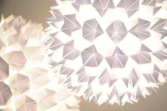 White Origami Pendant Lamp large by SilkandSpoon on Etsy, €199.00