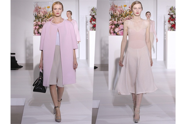 Due eterei look dalla sfilata A/I 2013 di Jil Sander