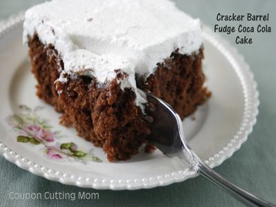Cracker barrel coca cola cake frosting recipe