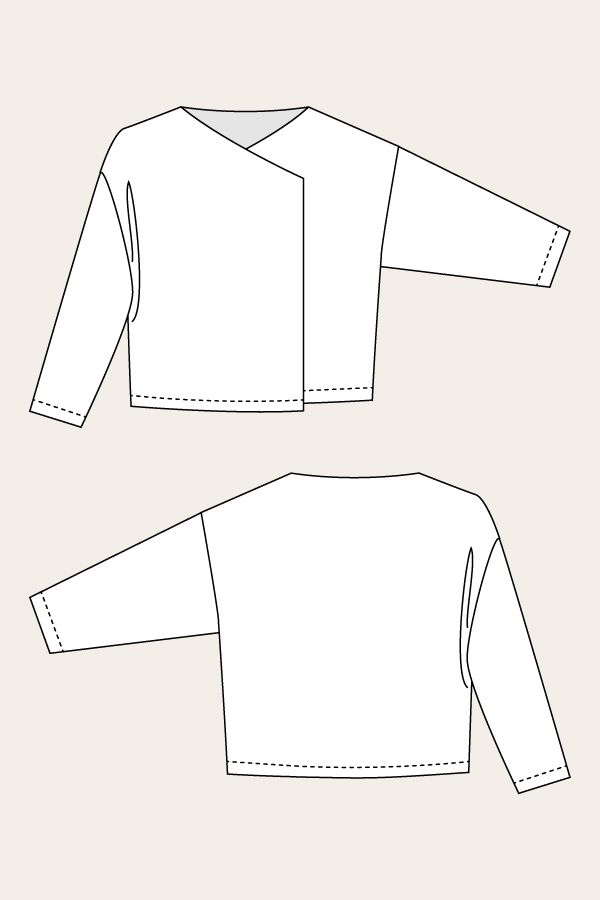 Saunio Cardigan - Named Patterns.  It seems that these patterns come from overseas.  Simple designs.  Nice details.