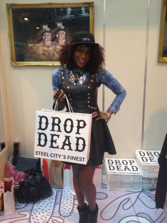 Annaliese Dayes (Britain and America's Next Top Model) at our Clothes Show Live stand