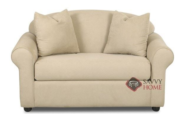 Chicago Chair Sleeper Sofa by Savvy. Supreme comfort and traditional elegance. Customizable.