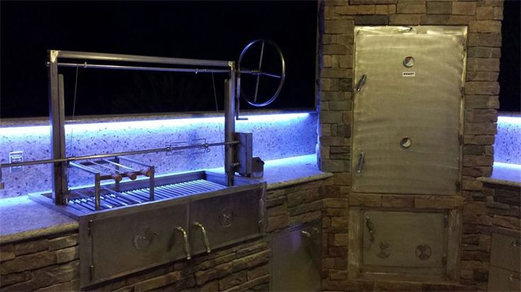 Perfect Outdoor Kitchens Smoker And Installed An For Design