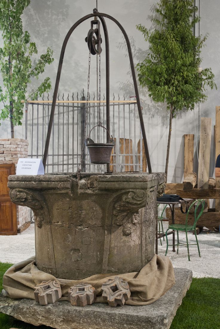 Stone Well With Pulley Archi Amp Parchi Outdoor